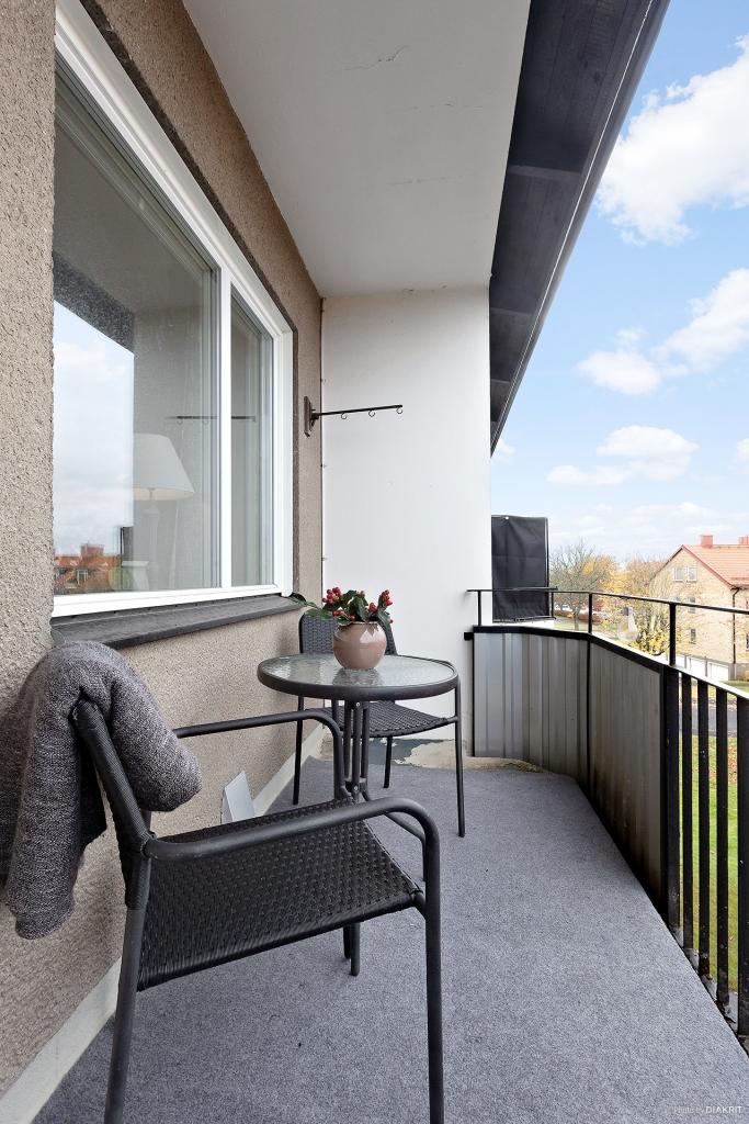 Trevlig balkong