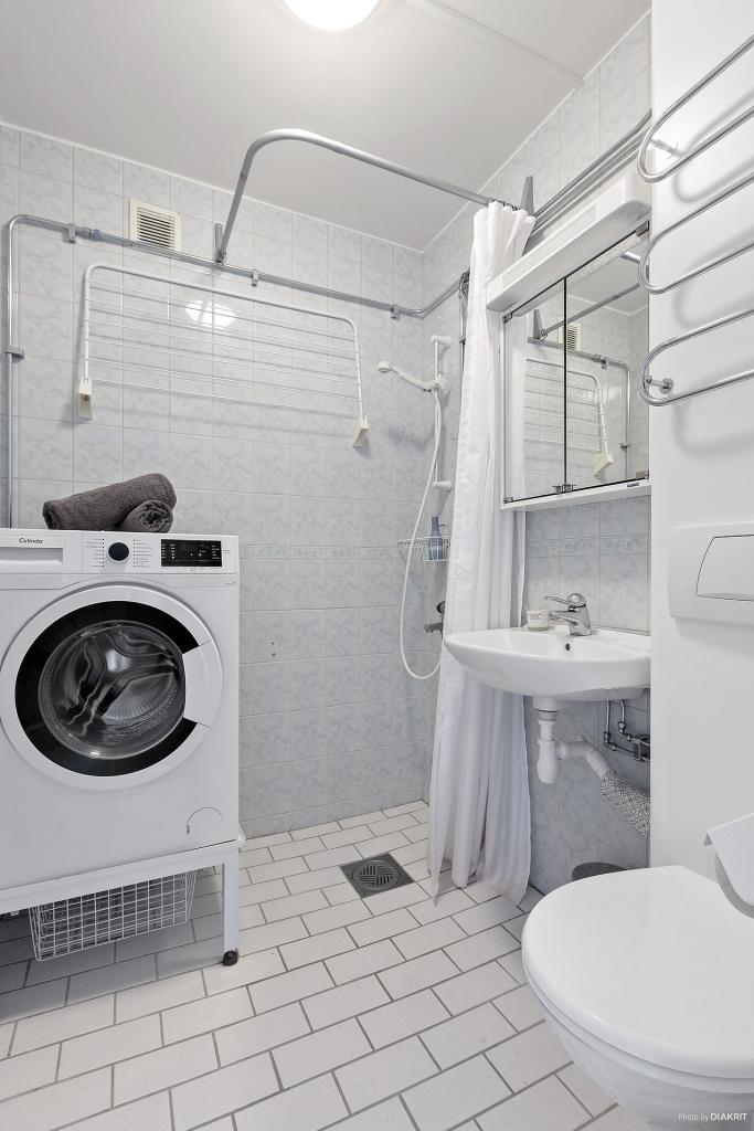 Helkaklad toalett/dusch/tvätt