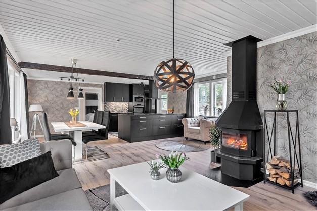 Vardagsrummet och köket