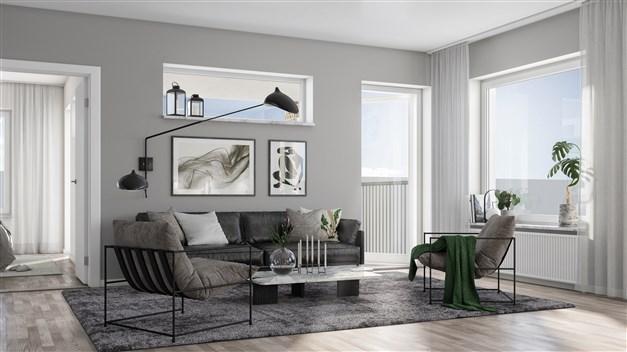 Illustrationsbild vardagsrum