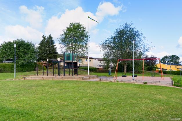 Föreningens lekplats.