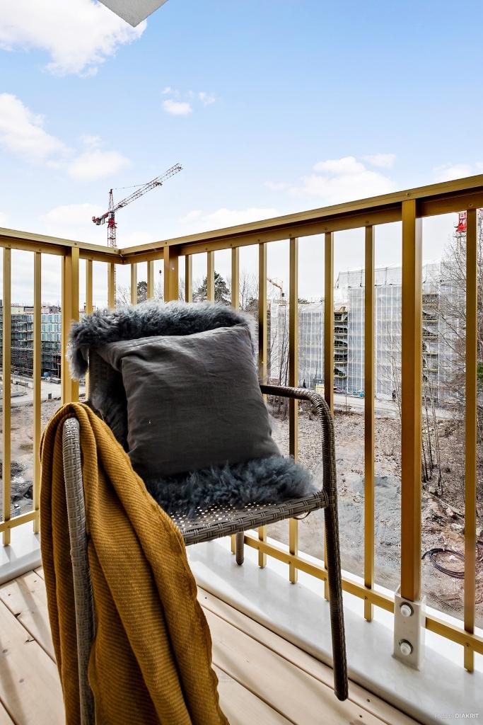 Bostadens mindre balkong