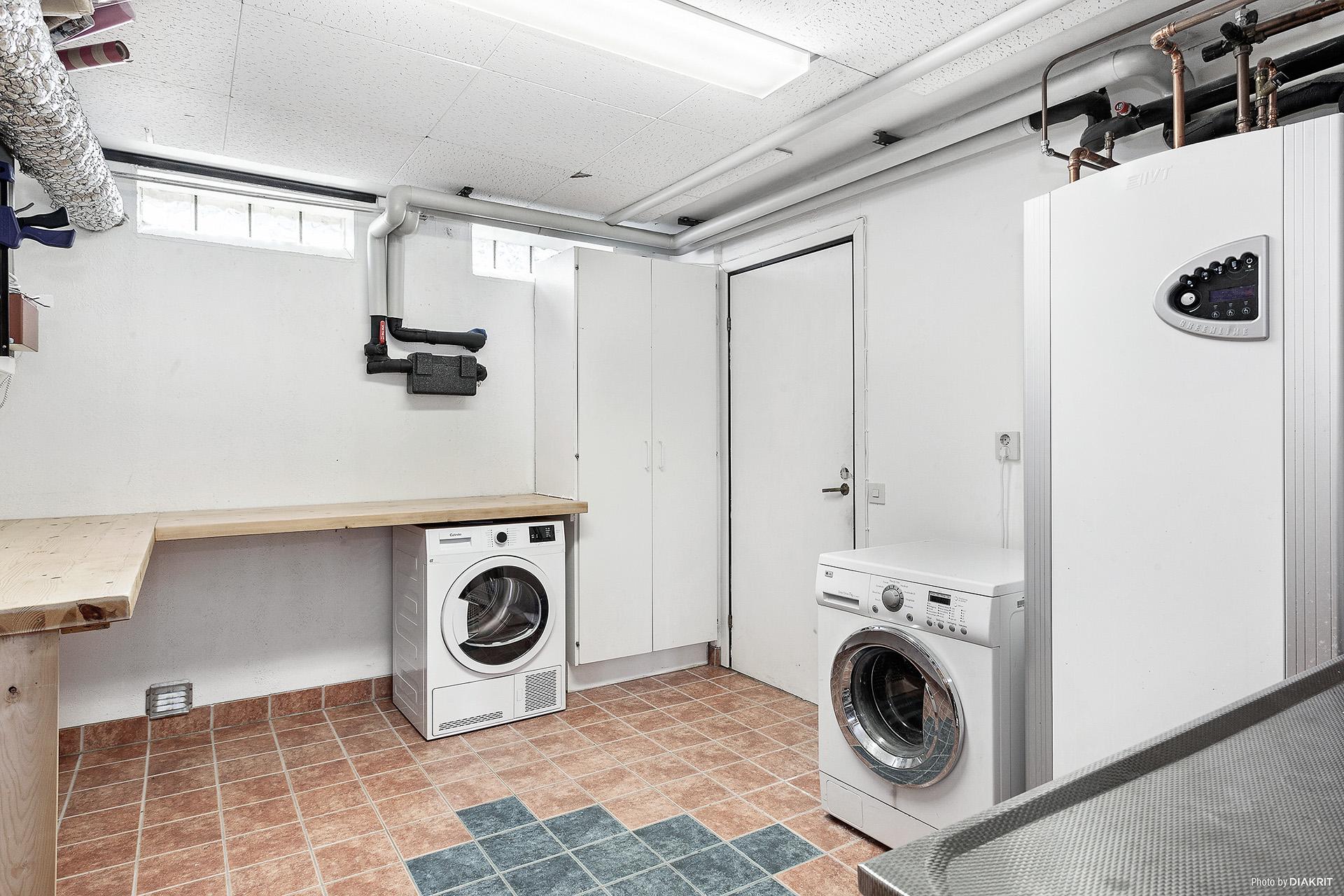 Tvättstuga & pannrum