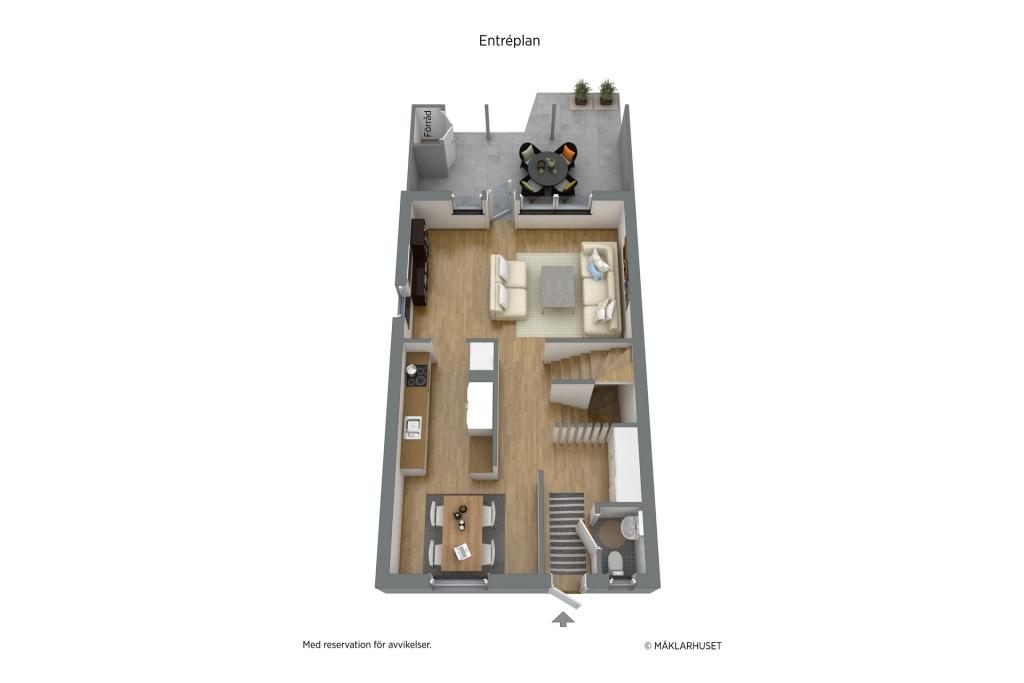 3D Planskiss - Entréplan