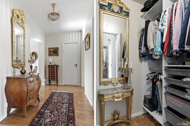 Hall och separat klädkammare