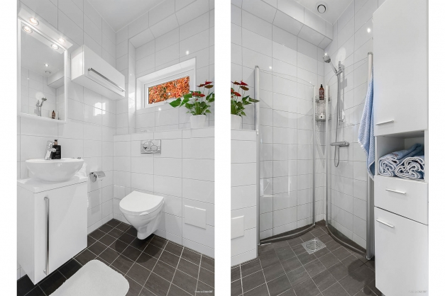 Handikapp anpassat badrum entréplan