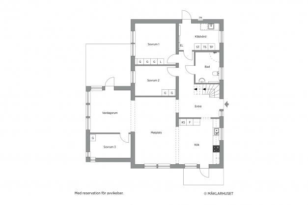 Planlösning 2 - entréplan