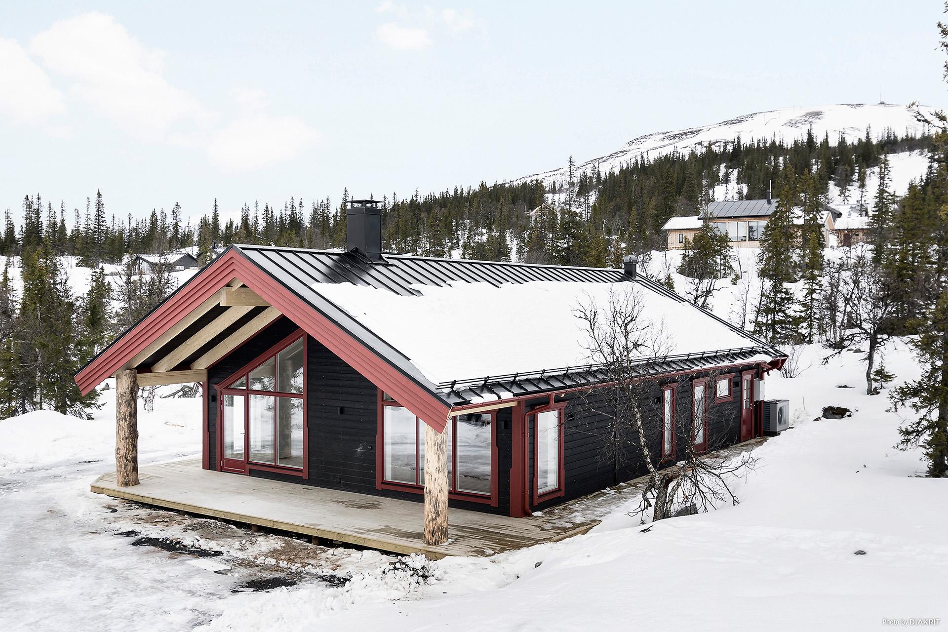 Huset som säljs kommer att ha grå fasad.