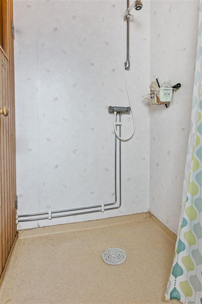 Dusch utanför bastu