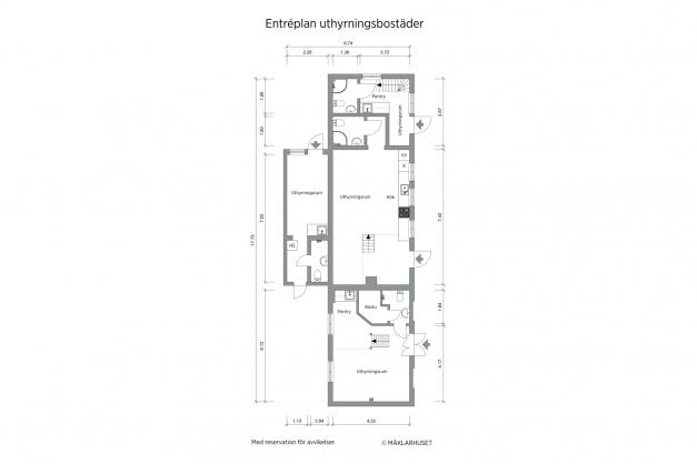 Planritning 2-d entréplan gårdshus