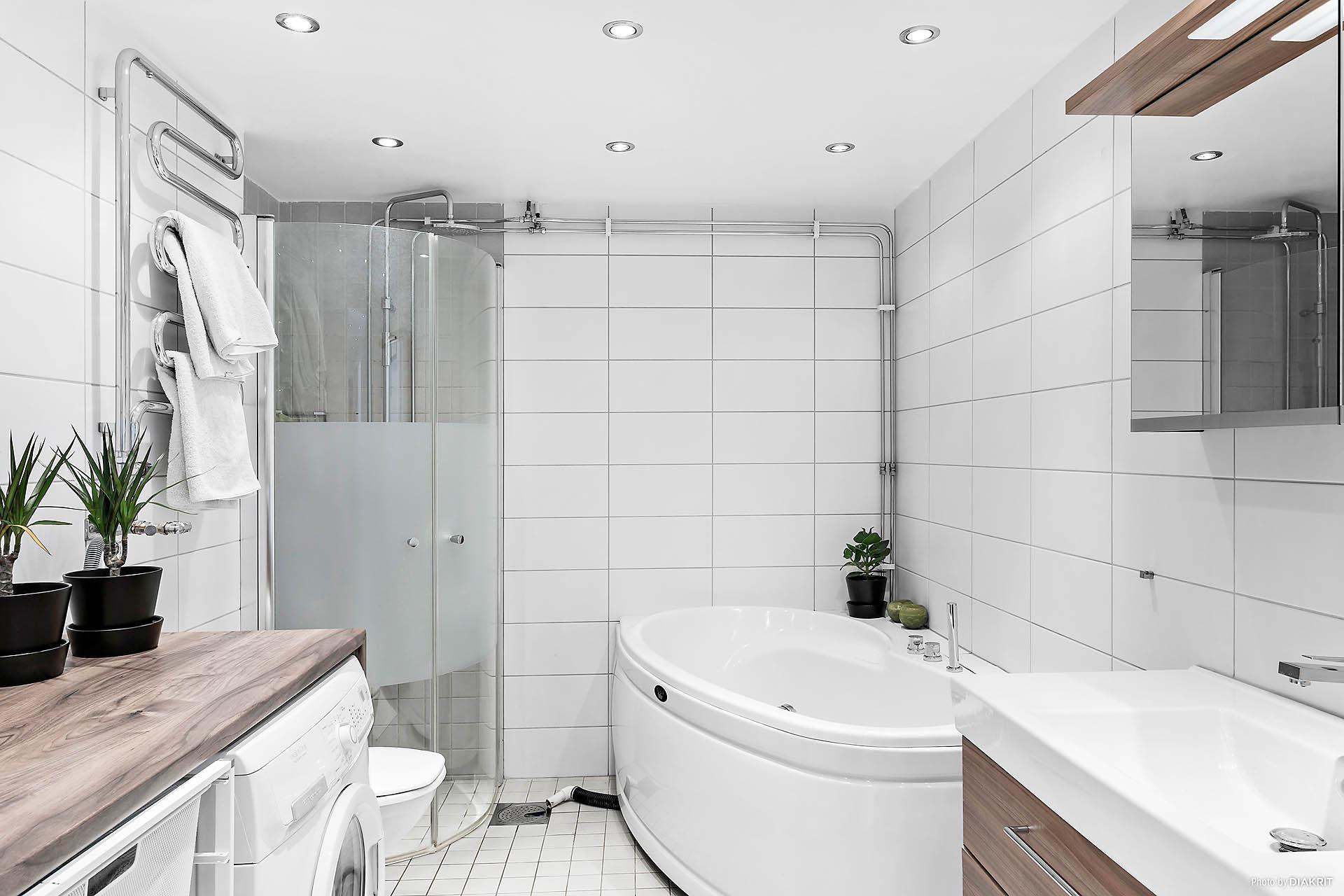 Snyggt, renoverat badrum