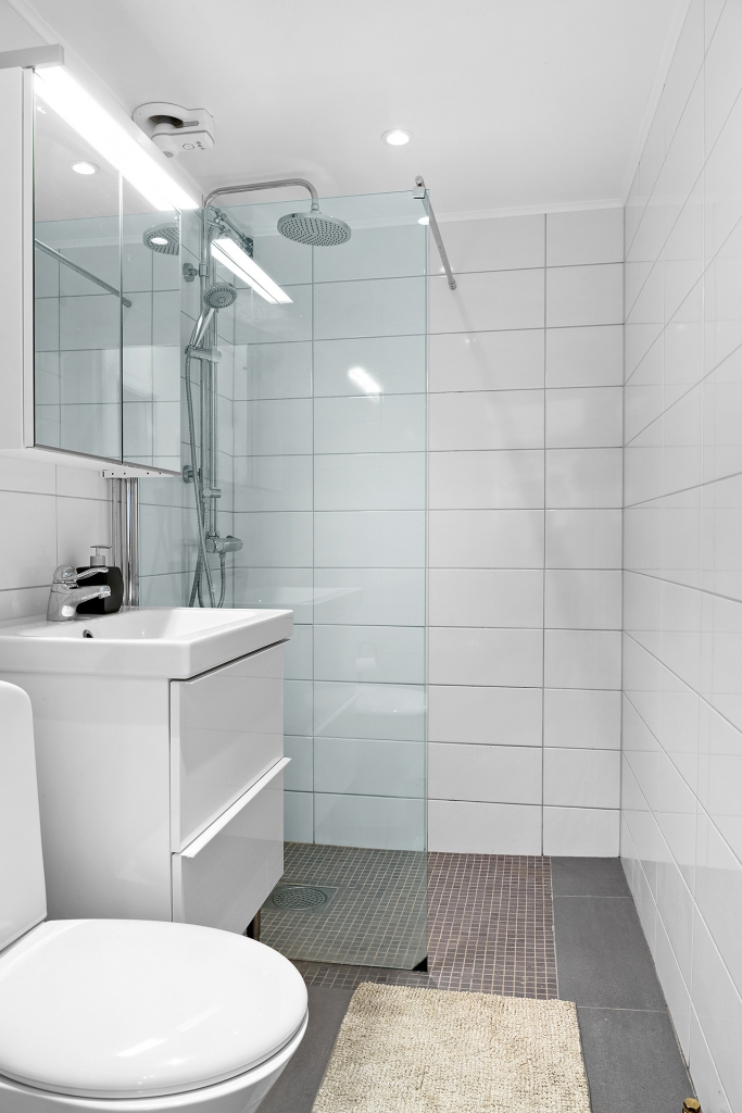 Duschrum i uthyrningsdel