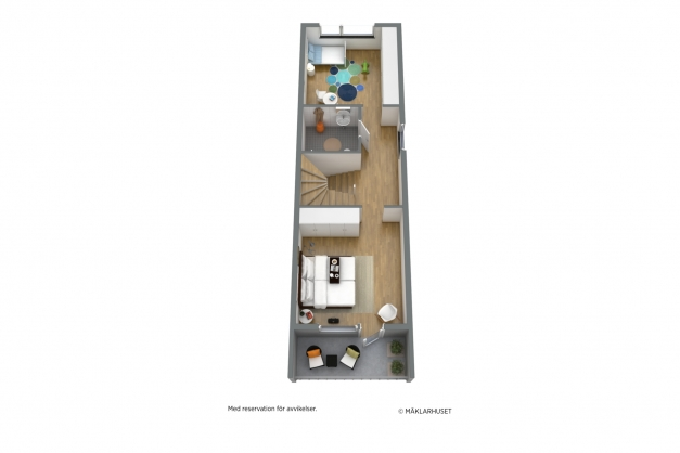 3D plan 1 - entréplan