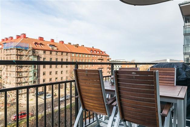 Trevlig utsikt från balkong