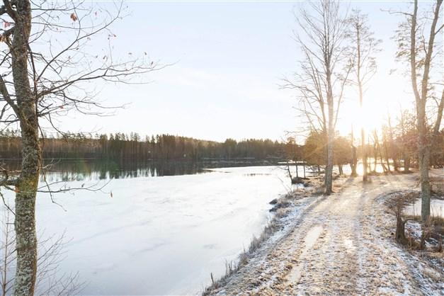 Promenadpark vintertid