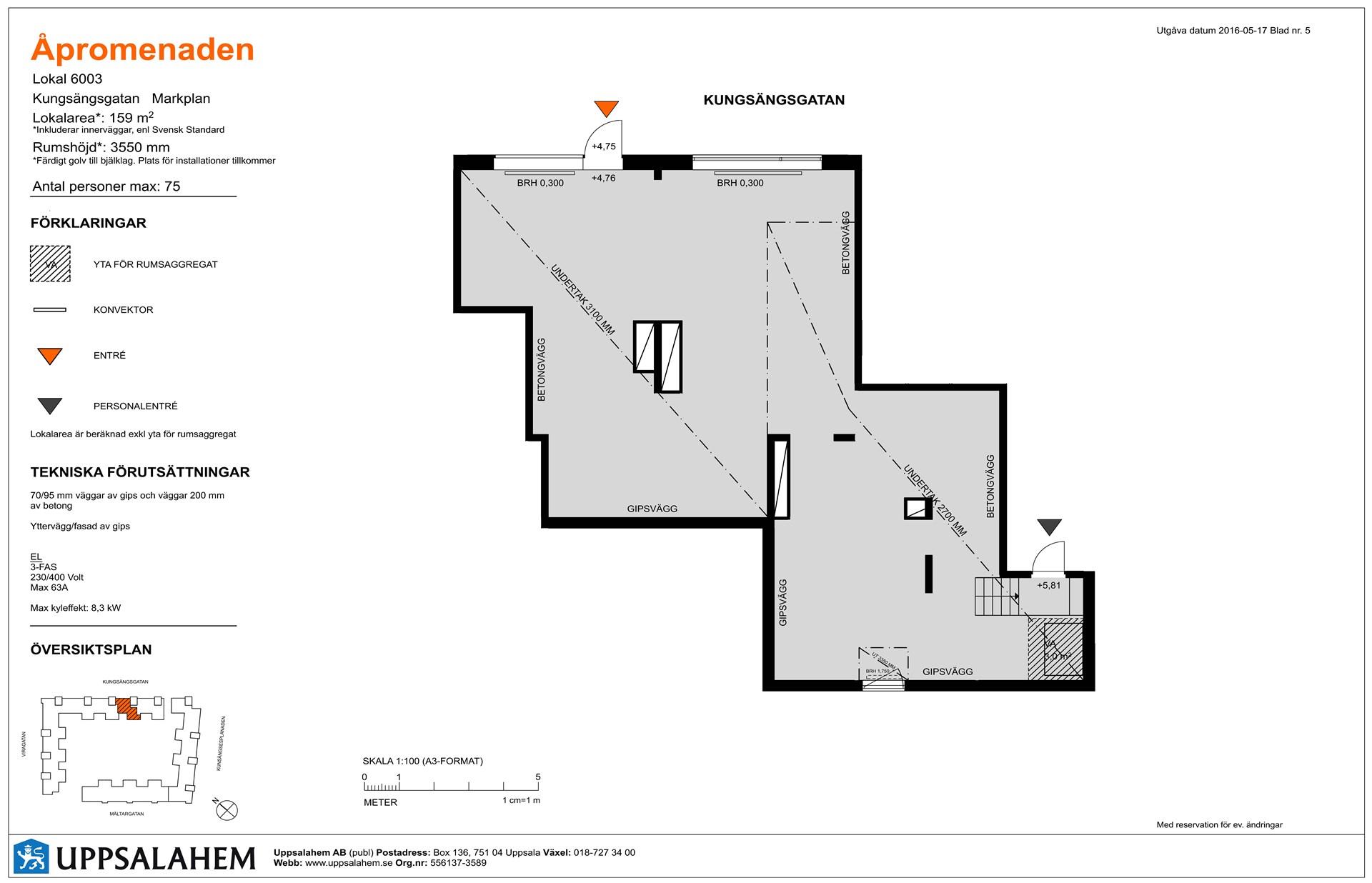 Lokal 3 - 159 m² Inflytt kvartal 3, 2017