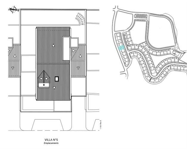 Lokalisering av villa #5 (Exempel på planlösning)  Alla planlösningar finns tillgängliga, kontakta gärna oss vid intresse.