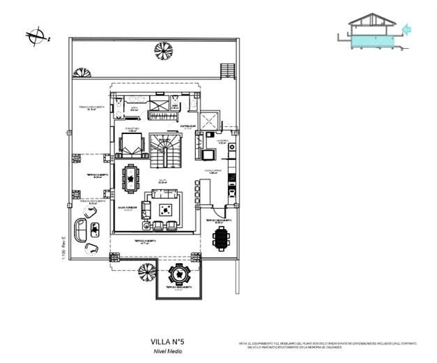 Entréplan(Exempel på planlösning) Villa #5. Alla planlösningar finns tillgängliga, kontakta gärna oss vid intresse.
