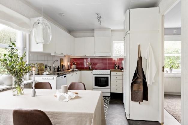 Kök med effektiv förvaring
