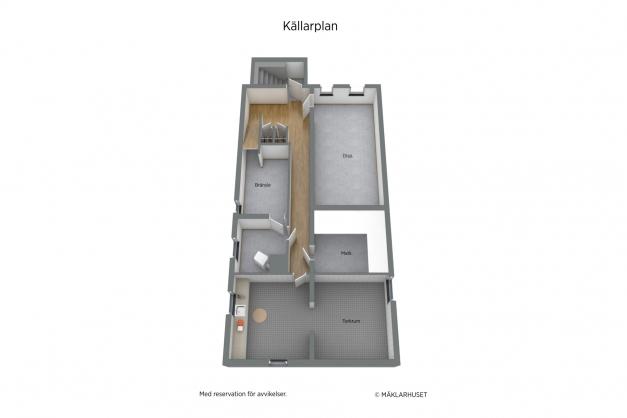 Planritning Källarvåning 3D