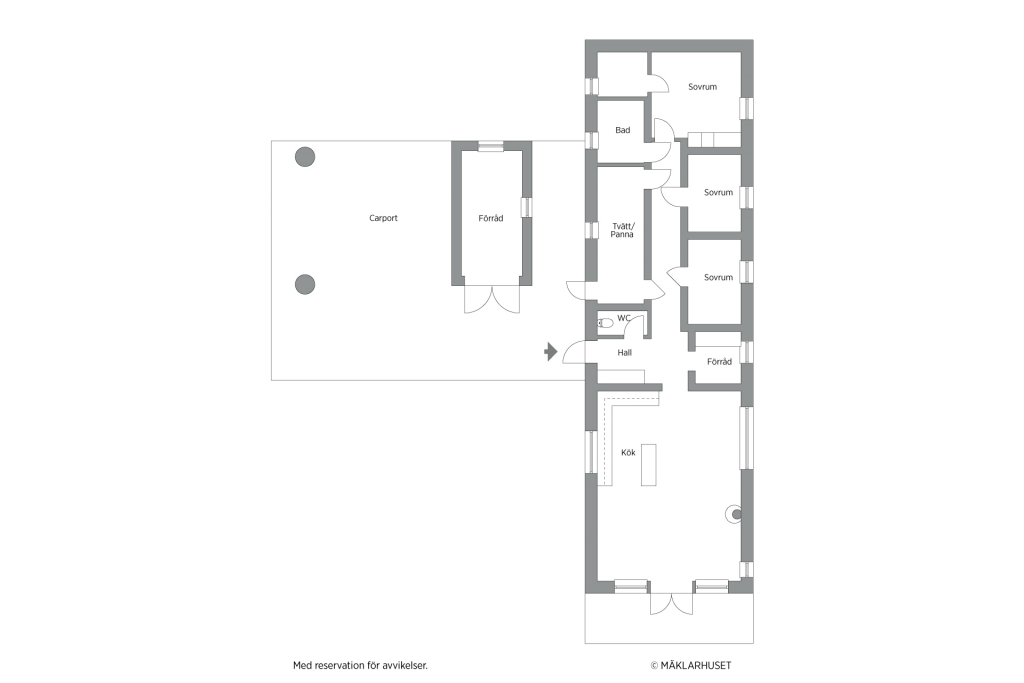 Planritning 2D 1 planshus