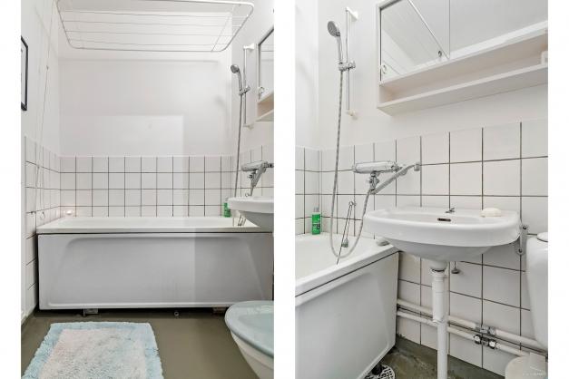 Välhållet äldre badrum