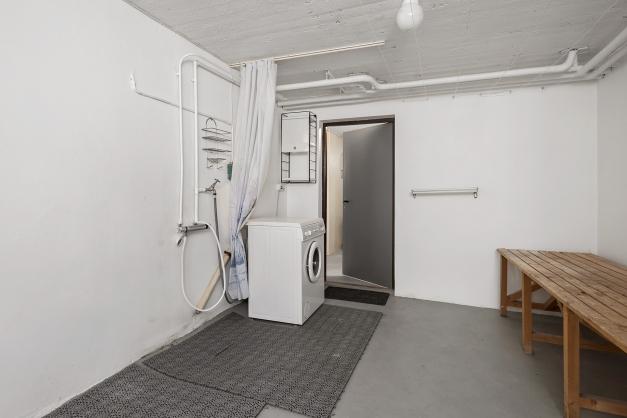 Tvättstuga i källarplan