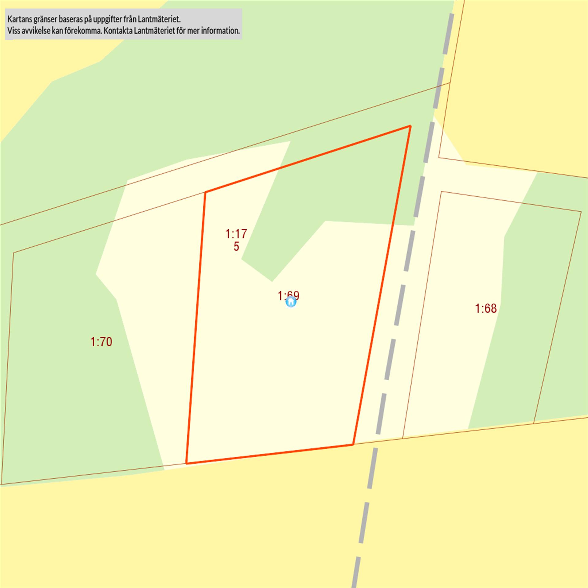 Bensbyn 1:69 2782 m²