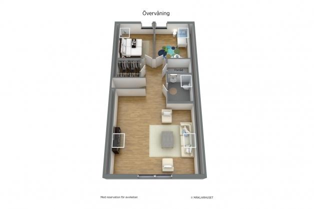 Möjlighet att återställa sovrum 5 och 6 finns.