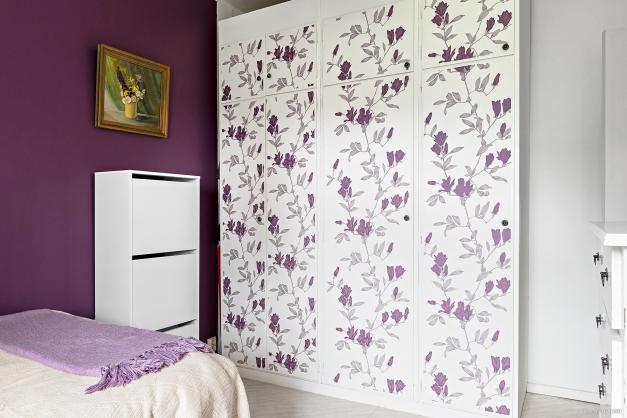 Förvaring i sovrummet i form av tre garderober