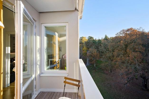 Härlig balkong i västläge med många soltimmar
