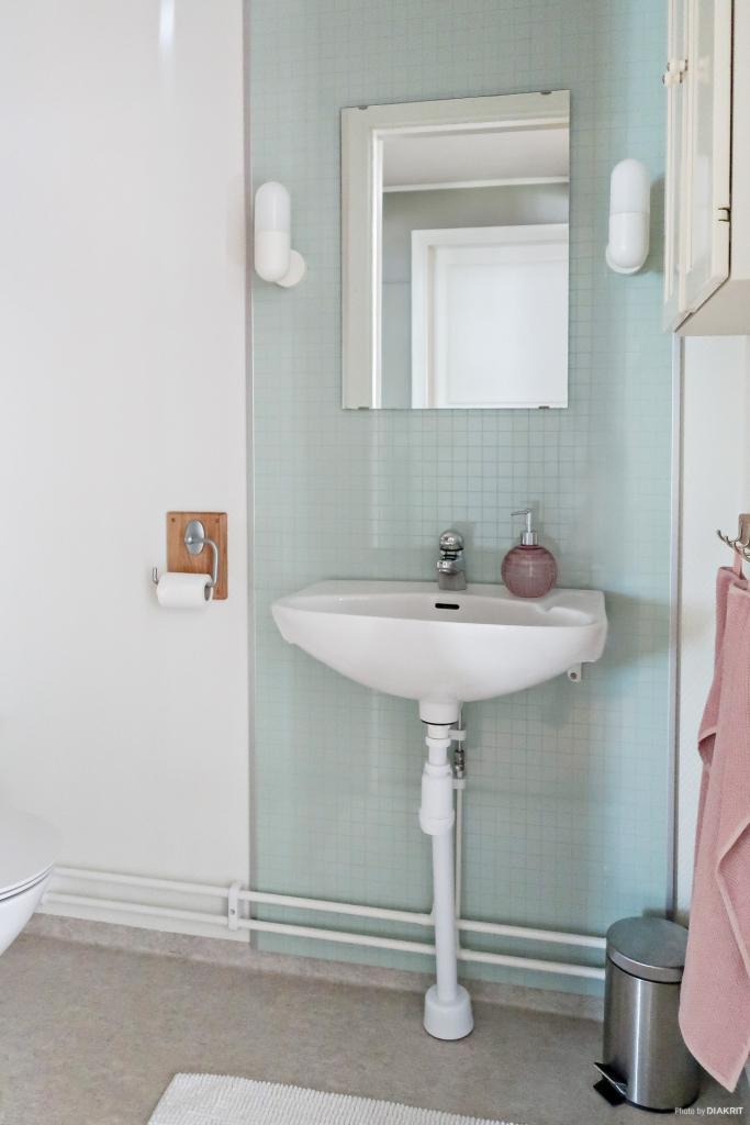 Renoverad toalett entréplan