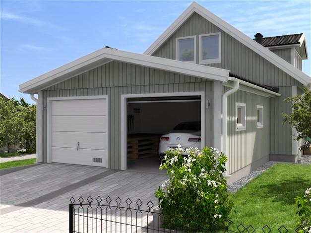 Vidbyggt garage, modell V30