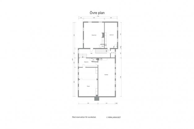 Huvudbyggnad övre plan
