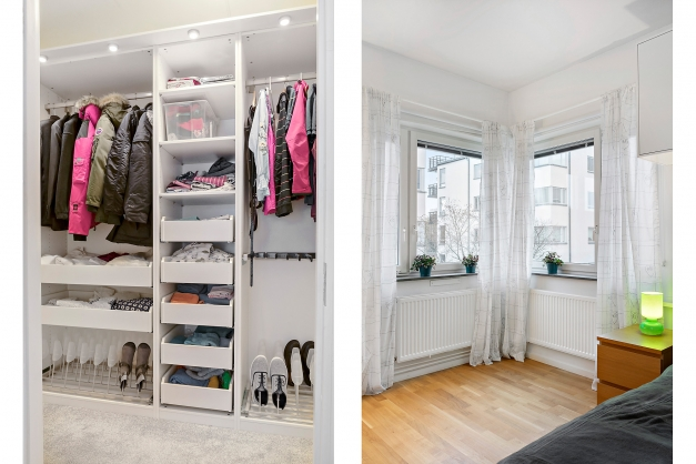 Det sstora sovrummet har en egen walk-in-closet