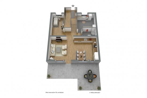 Planlösning (övervåning) 2D