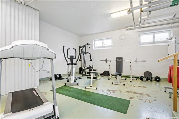 Tillgång till gym i källaren