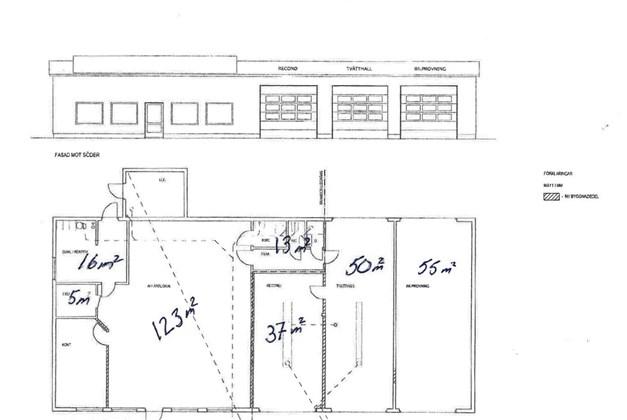 Planlösning med storlek på lokalerna