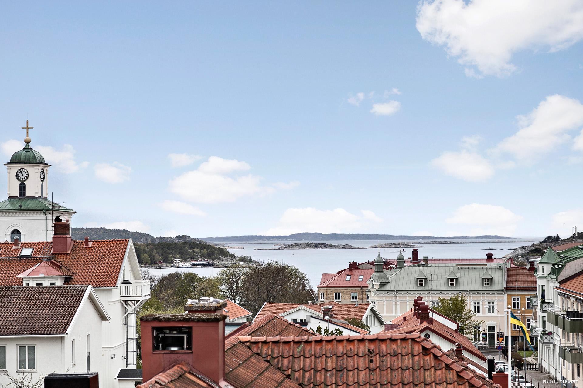 Utsiktsbild från lägenheten.