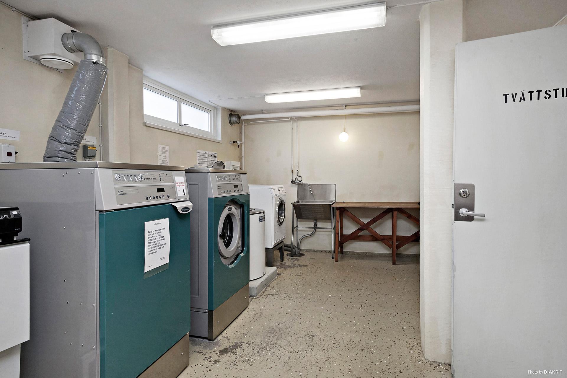 Gemensam tvättstuga i C-porten
