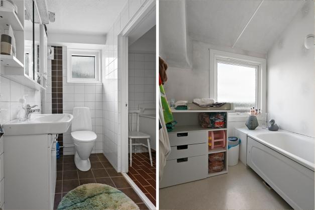 toalett källare/ badrum övervåning