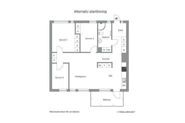 ALTERNATIV PLANLÖSNING - Extra sovrum