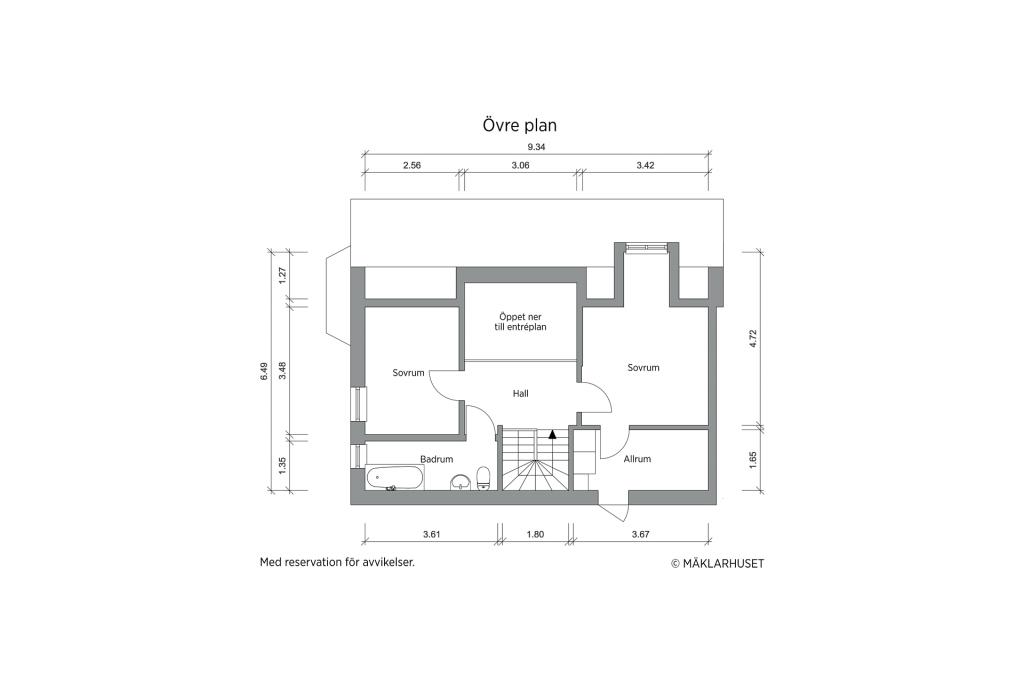 Övre plan - 2D