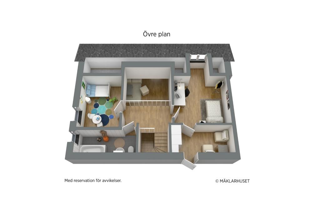 Övre plan - 3D