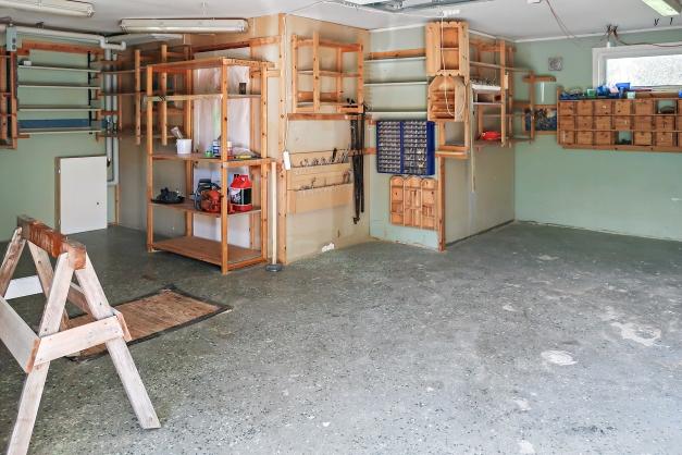 Garaget invändigt