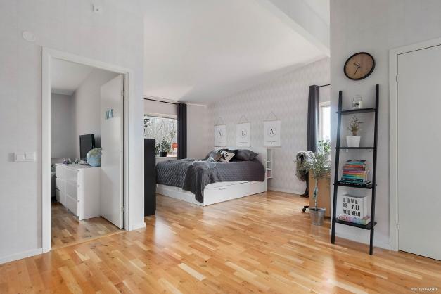 Allrum på övervåningen som idag använda som ett sovrum.