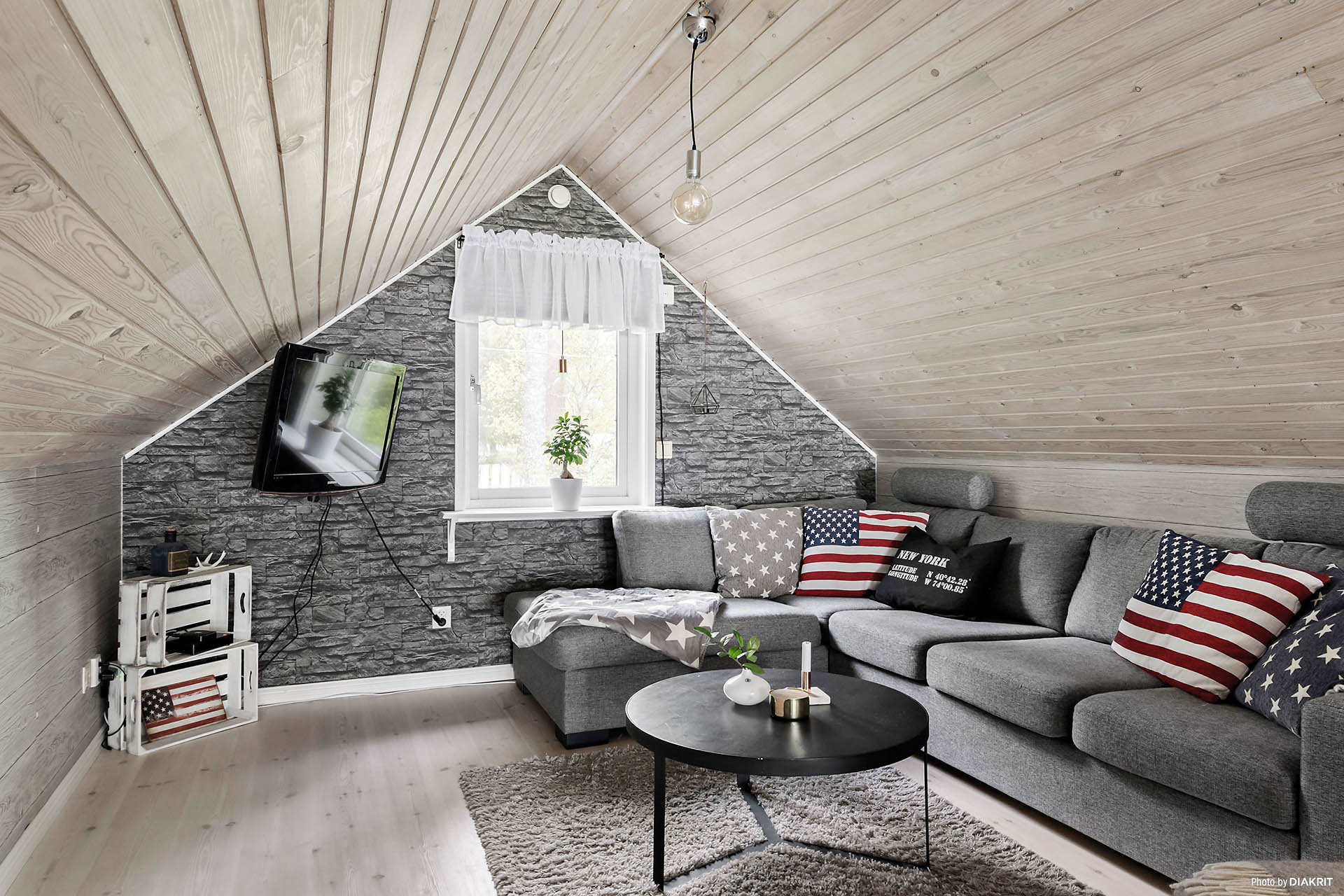 Vardagsrum på loftet