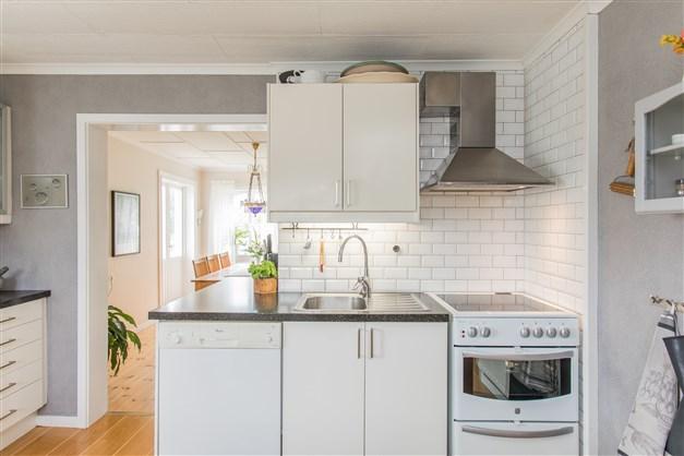 Renoverat kök med bra arbetsytor