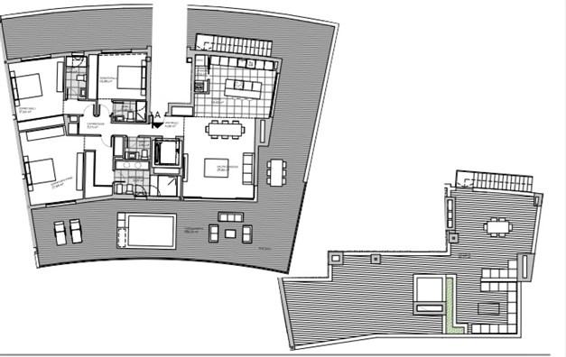Penthouse med 4 sovrum