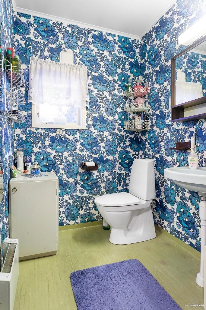 WC-rum med toalett och handfat